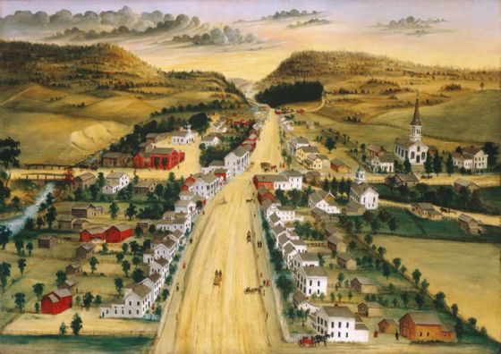 Hidley, Joseph H: View of Poestenkill, New York. Fine Art Print/Poster (5361)